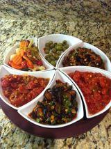 Israeli Salad Appetizer Plate