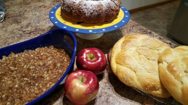 Apple Crisp, Apple Cake, and Sweet Challah