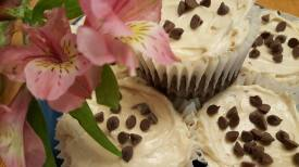 Chocolate Expresso jumbo cupcakes with Cream Cheese Frosting