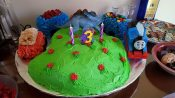 Ali's birthday cake, she had to have all of her favorite things :)