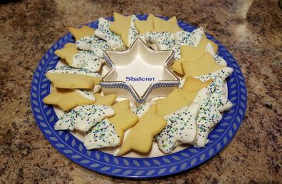 Sugar Cookies dipped in White Chocolate