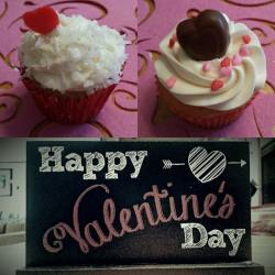Coconut and Chocolate cupcakes for Valentine's Day