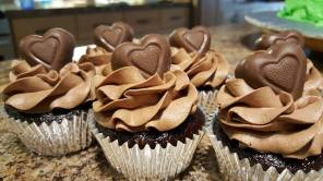Chocolate Cupcakes to cheer up a friend.