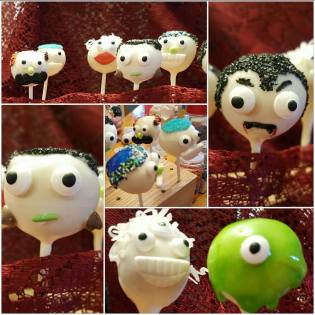 Chocolate Cakepops for Halloween