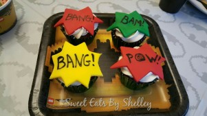 Comic Book Cupcakes