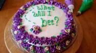 Vanilla Baby Shower Cake