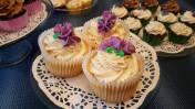 Lemon Cupcakes with lemon and vanilla buttercream