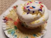 Strawberry filled Funfetti Cupcakes