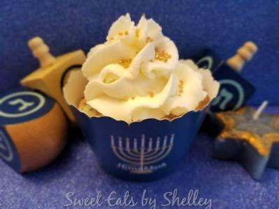Blue and White Funfetti cupcakes for Hanukkah