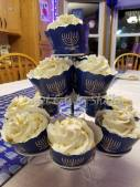 Blue and White Funfetti cupcakes for Hanukkah